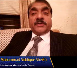 Muhammad Siddique Sheikh Joint Secretary Ministry of Interior Pakistan Picture